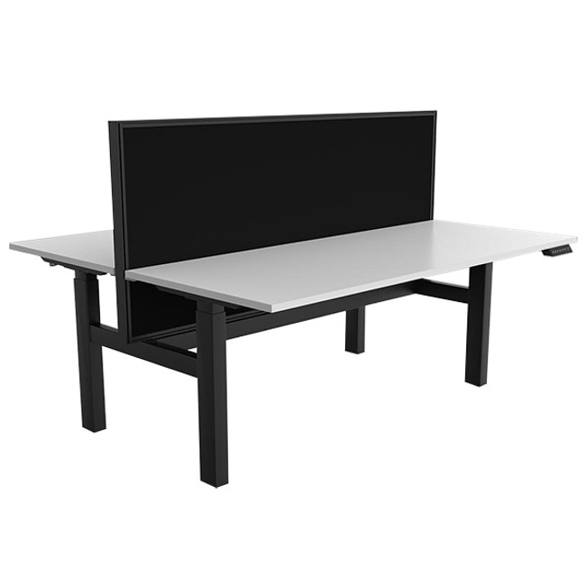 Nimble - Double Electric Height Adjustable Workstations - Black Frame
