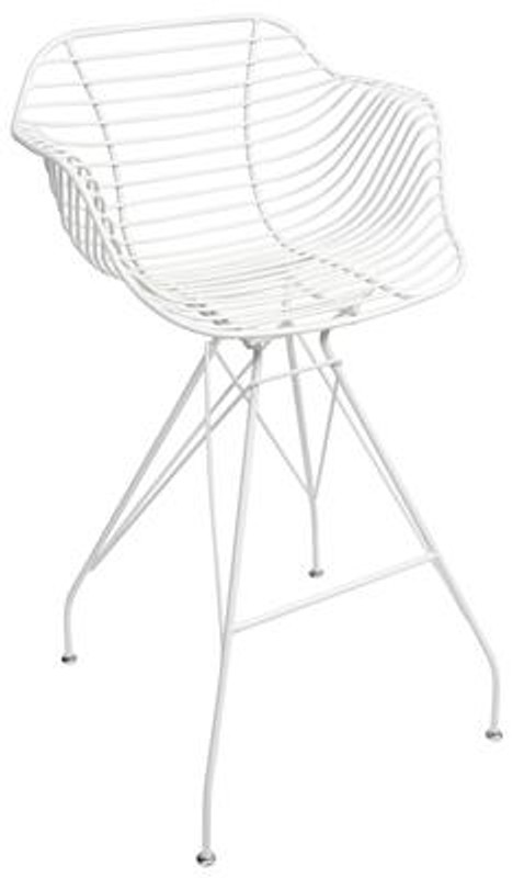 Degrees Arm Stool - White