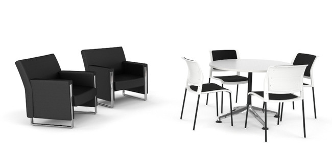 Round Meeting Table, Chairs & Lounge - Office Fitouts