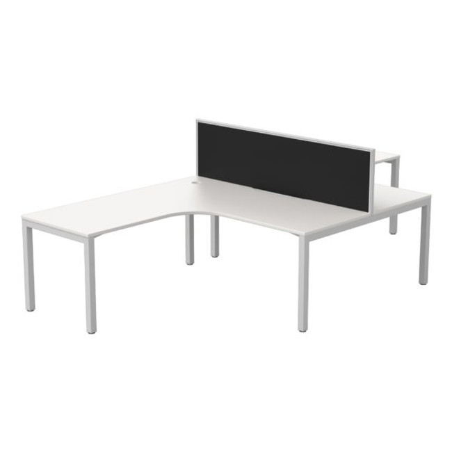 Cubit 2 Person Corner Workstation + Connect 30 Screen