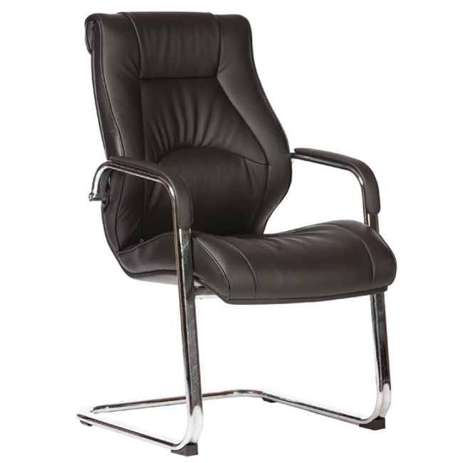 Camry Executive Sled Base Black PU Office chair