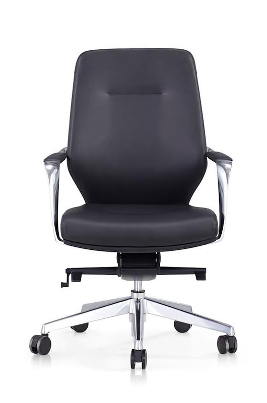 Grand Modern Executive Chair - Black PU