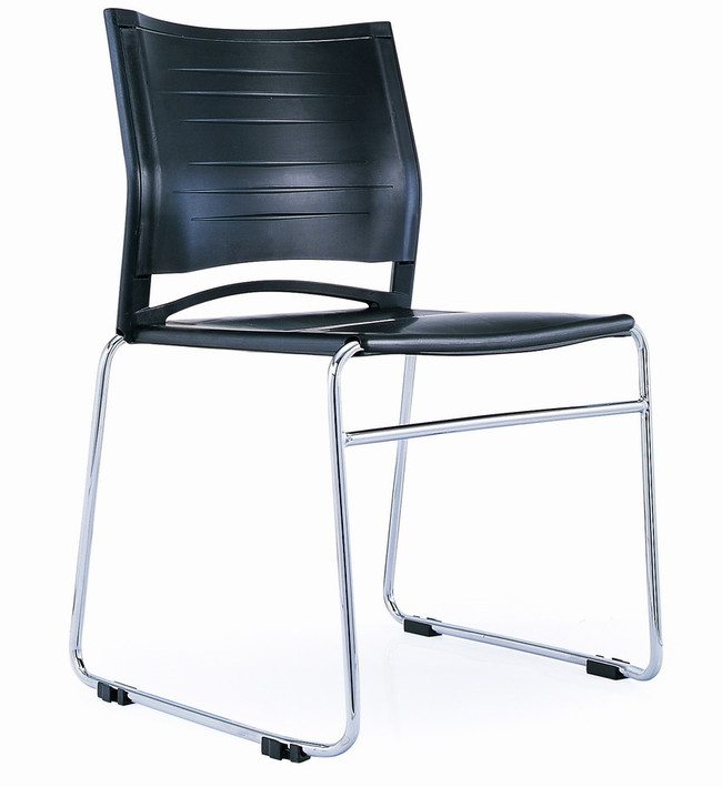 Zest Polypropylene Sled Base Visitor/ Conference Chair - Black