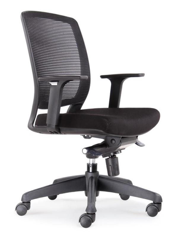 Hartley Task Varsity Medium Back Chair - Black