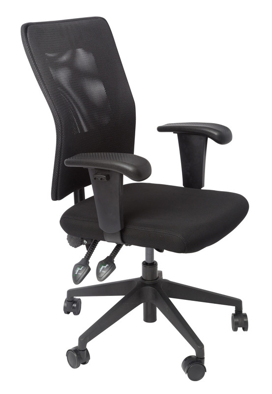 AM100 Medium Mesh Back Operator Chair - Black