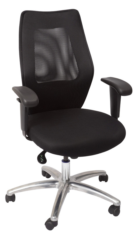 AM200 Executive Medium Back Mesh Chair - Black