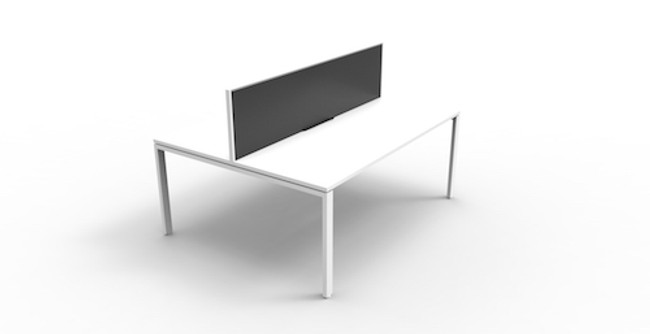 Quick Myraid 2 Person Double Sided Workstation - Profile Leg - With Screen