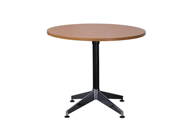Cyclone Round Meeting Table With Black Frame