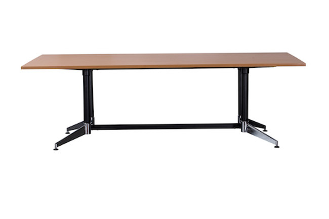 Cyclone Boardroom Table - Dual Post - Single Stage