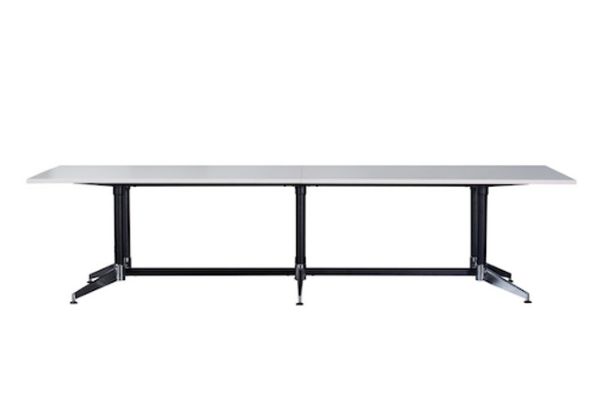 Cyclone Boardroom Table - Dual Post - Double Stage