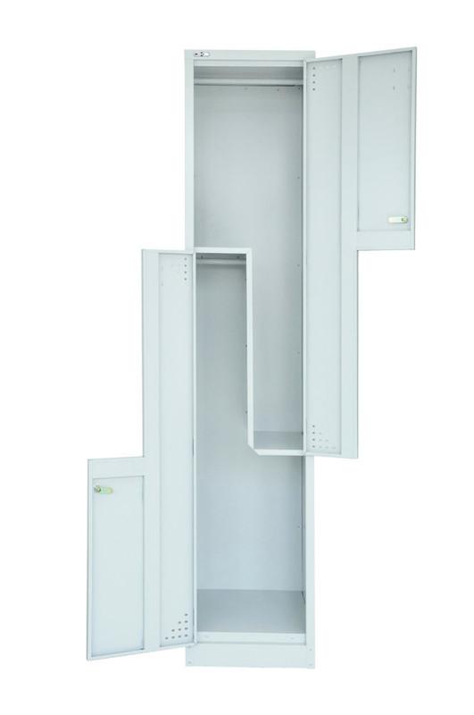 Life Step Door Locker - Assembled - Silver Grey