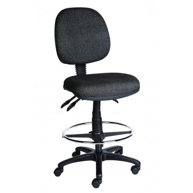 AutoErgo Low Back Ergonomic Drafting Chair - Black