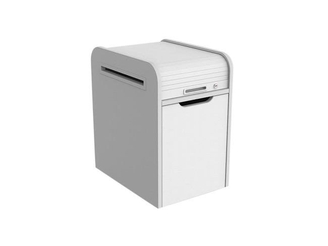 Mod Mobile Pedestal - Roll top - White