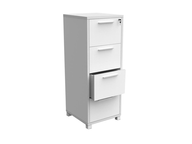 Mod Office Filing Cabinet - White