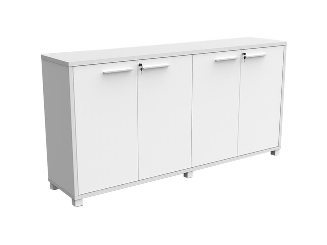 Mod Office Storage Credenza - White