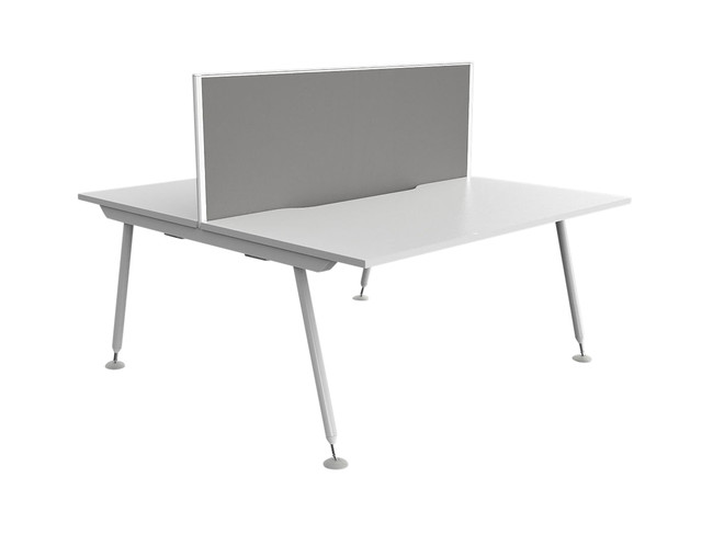 Cosmo 2 Person Office Workstation with Fabric Screen