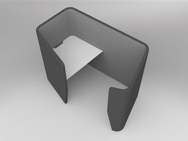 Mod Shell Single Person ABW Workstation Desk