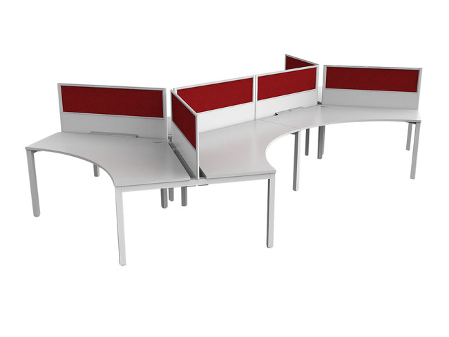 Axle Office Desk Setting-6 Person-120 Degree Workstation