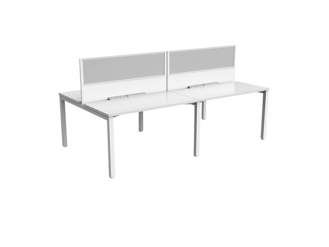 Axle 4 Person Office Workstation - Double Sided Desks