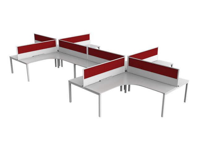 Axle Office Desk Setting-8 Person-90 degree Workstation