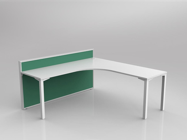 Atelier 1 Person Corner Desks with Fabric Screen