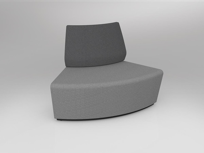 Mod Loop Curved 60 Degree ABW Seating with Inner Backrest