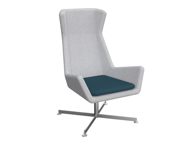Gratis Visitor Area Chair - Soft Seating - Alloy Base