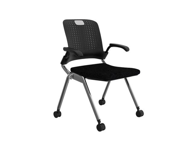 Adapta Training Room Chair on Wheels - Black