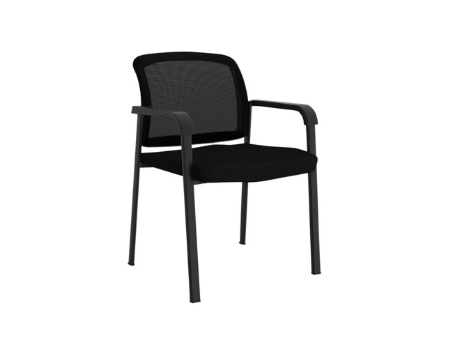 Ozone Visitor Chair with Arms - Black