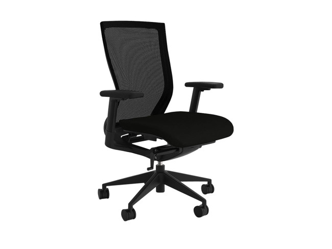 Stable Project Task Chair with Lumbar - Black Fabric