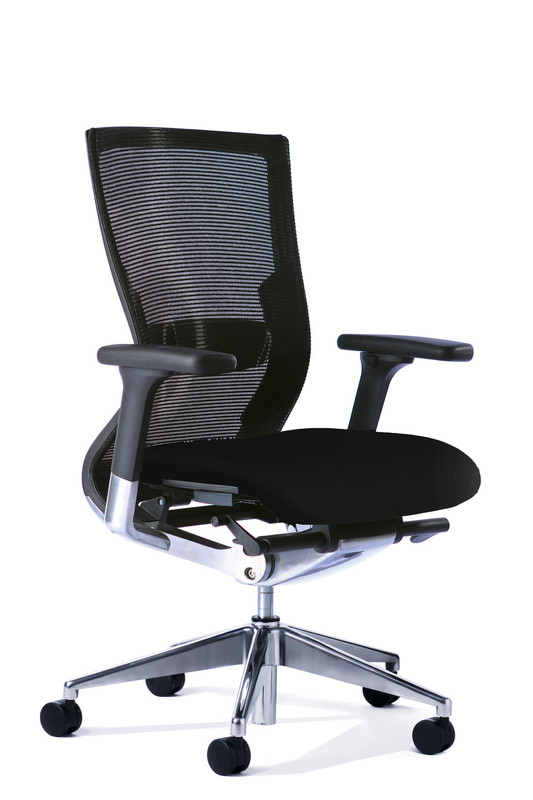 Stable Executive Office Chair with Lumbar - Black