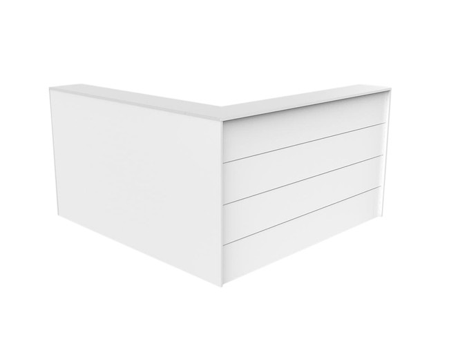 Axle L Shaped 90 Degree Reception Counter Facade - White