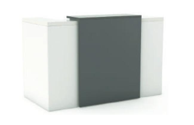 Nimble Reception Counter Unit Facade - White Silver