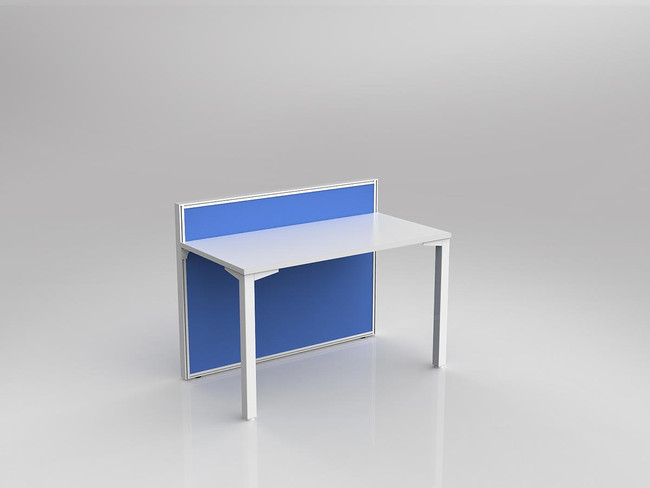Atelier Office Desk For 1 Person Fabric Screen