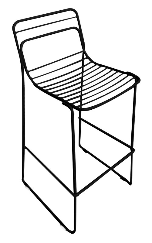 Cage Metal Bar Stool - Stackable