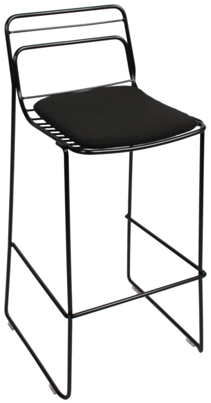 Cage Metal Bar Stool with Pads