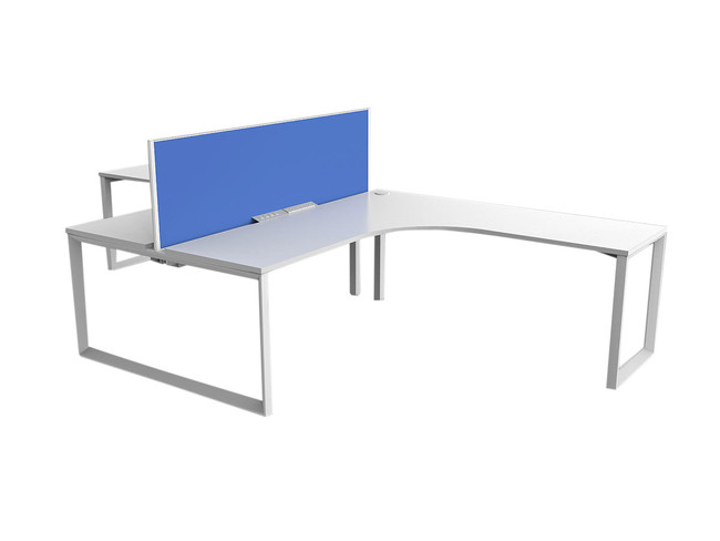 Smith 2 Person Office Desks - 90 Degree Workstation - Tee Layout