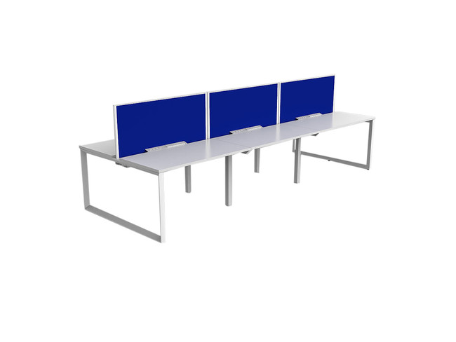 Smith 6 Person Office Workstation - Double Sided Desks