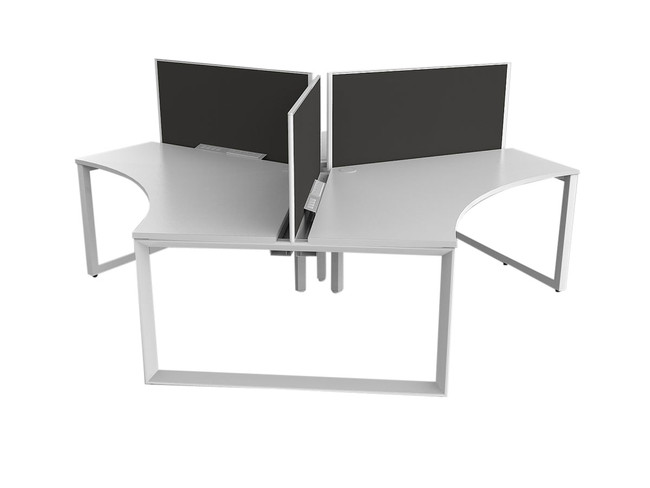 Smith 3 Person Office Workstations - 120 Degree Desks