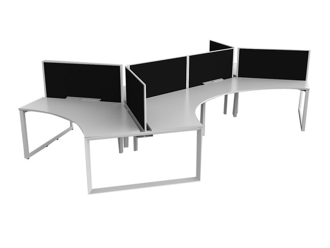 Smith 6 Person 120 Degree Office Desk Workstations