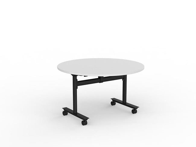 Nimble Mobile Flip Top Round Meeting Table