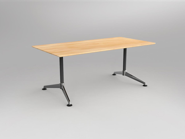 Simple Solid Beech Rectangle Meeting / Boardroom Table