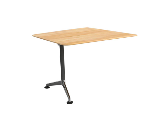 Simple Solid Beech Video Conferencing Table