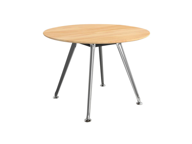 Team Round Meeting Table - Solid Beech