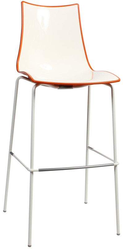 Bicolore Metal Bar Chair -  800mm Height - Italian Design