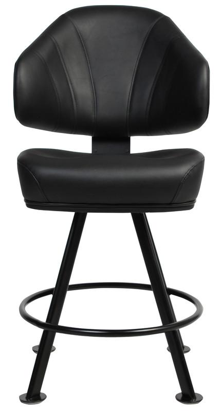 Luxor 4 Leg Black Bar / Gaming Stool - Molded Form