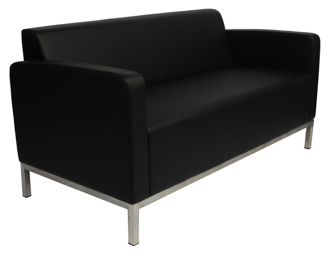 Cuba Office Lounge Seating Double Stainless Steel - Black