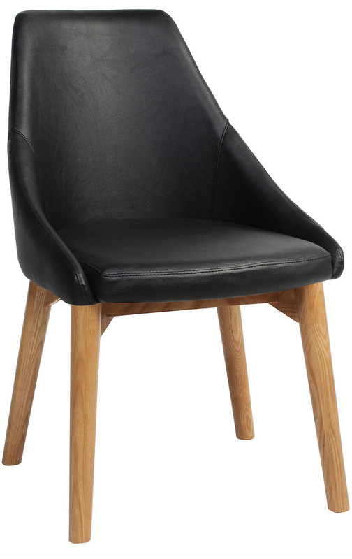 Stockholm 4 Leg Visitor Chair - Timber