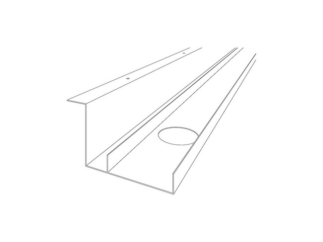 Cable Dump Tray with Top Lip Fixing