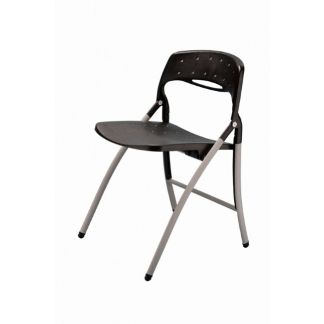 Origami Folding Chair - Stackable - Black
